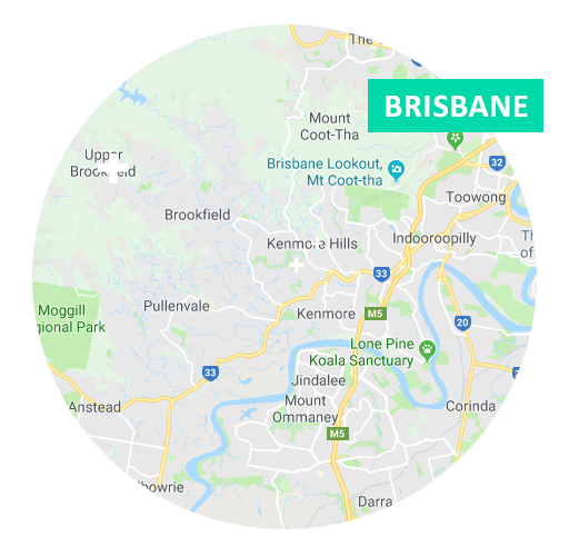 Brisbane Location Map